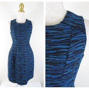 Shoshanna Blue Metallic Monique Fit Flare Dress 4